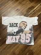 Vintage 1995 Mike Tyson Iandrsquoll Be Back All Over Print Shirt