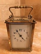 A 19th Century Miniature 8 Day French Case Covered Carriage Clock Original Oner
