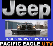 Jeep 82 Winter Wolf Snow Plow Kit With An Actuator Lift System