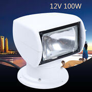 360 Degree Rotate 100w Remote Control Search Light Lamp Boat Camping Light White
