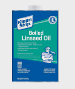 Klean Strip Boiled Linseed Oil Transparent Natural Wood Finish Protect 1qt Qlo45