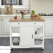 Choochoo Kitchen Cart On Wheels With Wood Top Utility Wood Kitchen Islands With