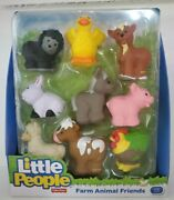 Fisher-price Little People Farm Animal Friends Sheep, Duck, 9 Pc Distressed Box