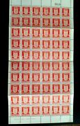 Jersey 1941 Sg2a 1d Arms Sheet Of 60v On Rare Chalky Paper Umm