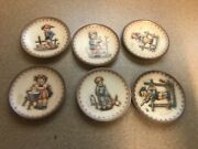 Goebel Hummel Miniature Collector Plates Lot Of 6 And03989 And03990 And03991 And03993 And03994 And03995