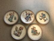 Goebel Hummel Miniature Collector Plates Lot Of 5 And03971 And03972 And03973 And03974 And03975