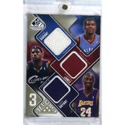2009 Sp Game Used Kobe Bryant Lebron James Kevin Durant Star Swatch 48/125