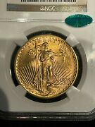 1924 Ms64 Cac Double Eagle 20 Gold St Gaudens Ngc Mint State 64 Lustrous
