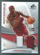 2005-06 Ud Sp Game Used Lebron James Dual Patch Jersey Relic 02/10 Cavaliers