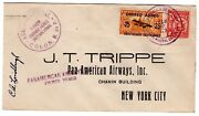 Lindbergh Autographed Pan American Airways Colon Panama 1929 To Trippe Nyc