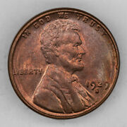 1929 S Lincoln Wheat Cent Penny 1c Bu Brilliant Uncirculated - Red 2947