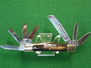 Fightand039n Rooster 7 Blade Congress Whittler By Frank Buster Knives