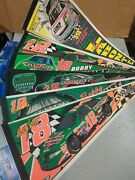 Lot Of 6 Bobby / Terry Labonte Nascar Wincraft Pennants 12 X 30