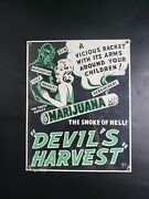 New Ande Rooney Porcelain Sign Marijuana And039the Smoke Of Helland039 Approx 9x12
