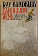 Vintage Collectible Signed Book Dandelion Wine Ray Bradbury Open To Offers