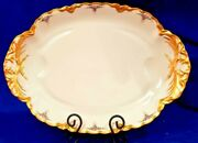 Haviland Large 18 X 13 Platter 1894-1931 Hand Painted Pink Roses Gold Signed