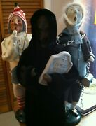 Byers' Choice Carolers Lot Spirit Of Christmas Future, Scrooge, Marley's Ghost