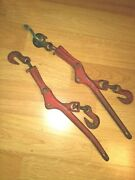 Vintage Lebus Chain Binders Model W-1 Usa Set Of 2 As Pictured