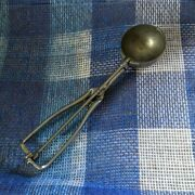 Antique Gilchrist 30 Ice Cream Disher Scoop Dipper German Silver Squeeze 12