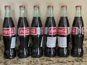 6 Pack Mexican Coca-cola Cane Sugar Import Glass Bottles 12oz Coke Hecho Mexico