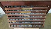 Vintage Letterpress 18-drawer Type Cabinet With Type