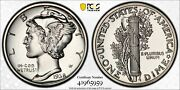 1938 Proof Mercury Dime 10c Silver Pcgs And Cac Certified Pr 65 Proof 959