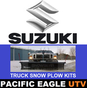 Suzuki 82 Winter Wolf Snow Plow Kit With An Actuator Lift System
