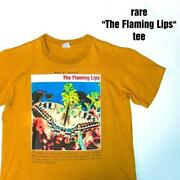 Vintage 1990and039s The Flaming Lips T-shirt Orange Xl Size W59cm L73cm Very Rare
