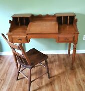 Tell City Antique Desk And Chair