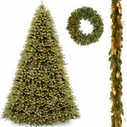 National Tree-12 Ft. Downswept Douglasr Fir Tree With 6and039 X 12 Decorative C...
