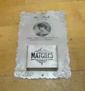 Dr Mach The Dentist Antique Advertising Matches Holder Sign Best Equipped Office