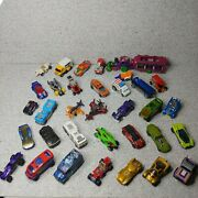 Lot Of 33 Hot Wheels Die Cast Cars And Vehicles - Weird And Futuristic