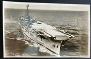 Mint Germany Real Picture Postcard Latest Aircraft Carrier Hms Ark Royal