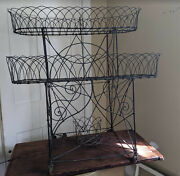 Antique Victorian Wire Plant Stand Or Planter