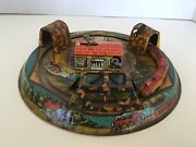 Vintage Marx Honeymoon Express Tin Litho Wind Up Toy 52nd And 42nd Street Station
