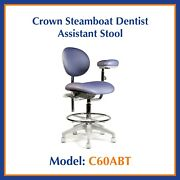 Crown Steamboat Dentist Assistant Stool - C60abt