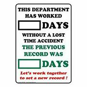 Uptell Dry Erase Days Without A Lost Time Accident Sign Metal Signs Funny Yar...