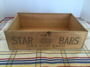Vintage Star Soap Wooden Dovetail One Cent Bar Box, Proctor And Gamble