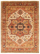 Traditional Hand-knotted Oriental Carpet 8and03910 X 12and0392 Area Rug In Cream