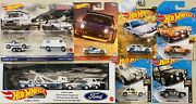 Hot Wheels Premium Ford Race Team Box Set And Ford Escort Lot Of 7 Gift Pack