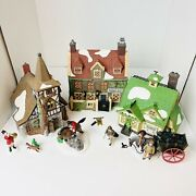 Lot Of 5 Sets Of Dept 56 Dickens Village Houses Old Michaelchurch Dedlock Arms