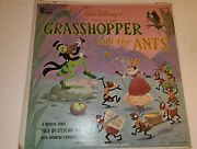 Vintage Walt Disney's Grasshopper And The Ant Vinyl Lp Great Pre-owned Condition
