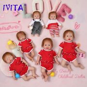 Full Silicone Dolls With Hair 3 Colors Eyes Choices Realistic Reborn Baby Dolls