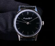 1950s Black Dial Stainless Steel Dress Watch Cal 89 Refurbished Dial