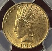 1913 Us 10 Gold Indian Head Eagle- Pcgs Ms63