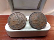2 1837 Coronet Head Large And Med Letter Variety Coin C 1683