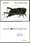 Eric Carle Signed Autographed The Very Quiet Cricket Hc 1 Ed Hungry Caterpillar