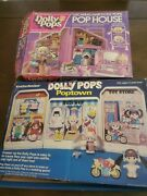 Huge Lot Dolly Pops House And Poptown Knickerbocker Doll Playsets Snap On Toy Vtg