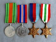 Genuine Wwii British Military Army Group Of Four Medals