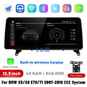 For Bmw X5 X6 E70 E71 2007-10 Ccc 12.3 Ips Android Car Radio Stereo Gps Navi
